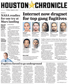 Houston Chronicle Internet Gang Dragnet